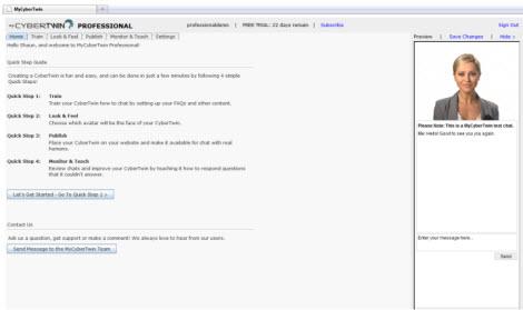 MyCybertwin Professional Screenshot