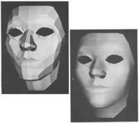 First animated faces created by Frederic I. Parke