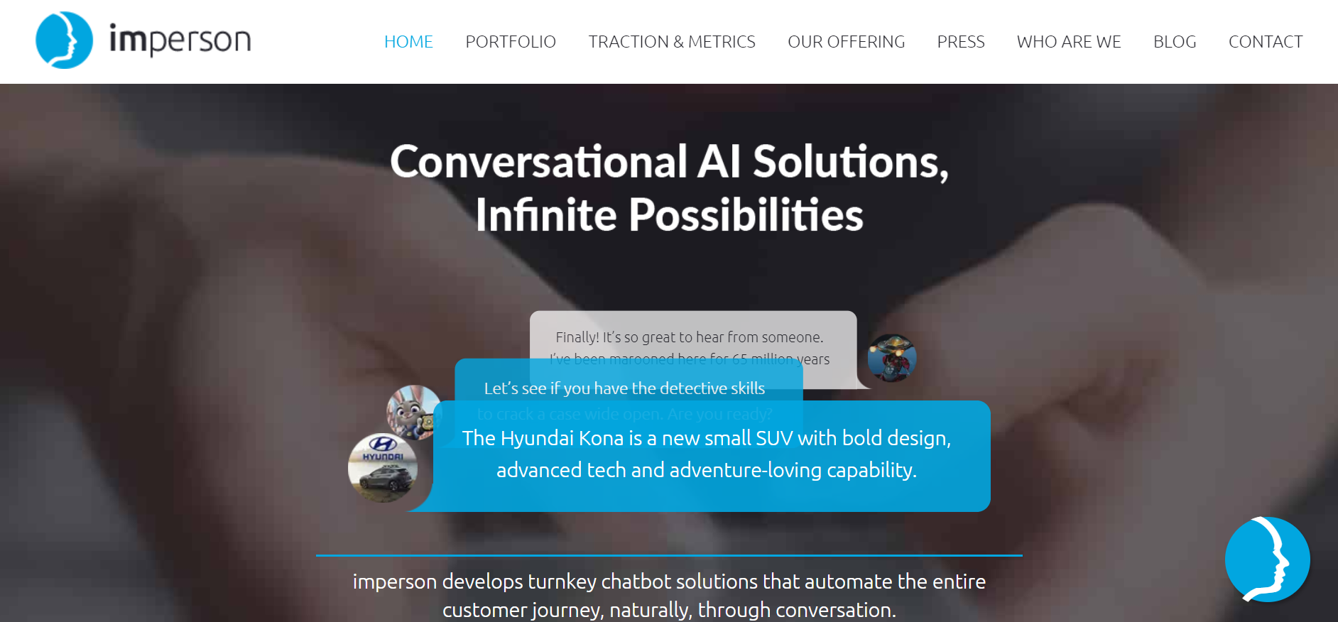 best ai chatbot tools - Imperson