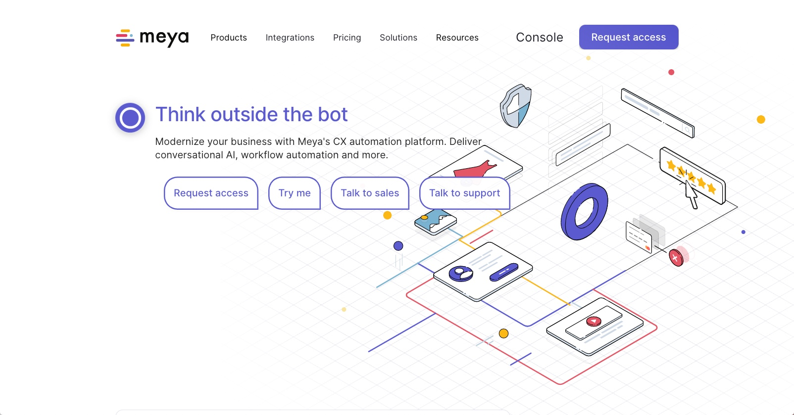 best ai chatbot tools - Meya.ai