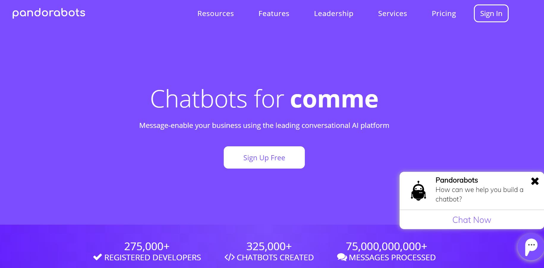 best chatbot builders - Pandorabots