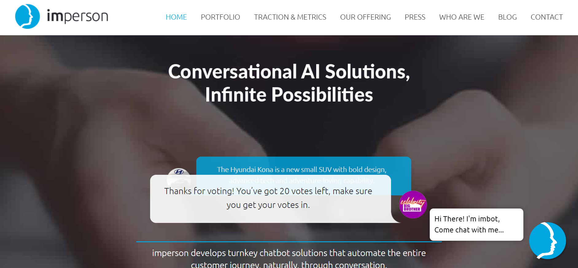 best chatbots for marketing - Imperson