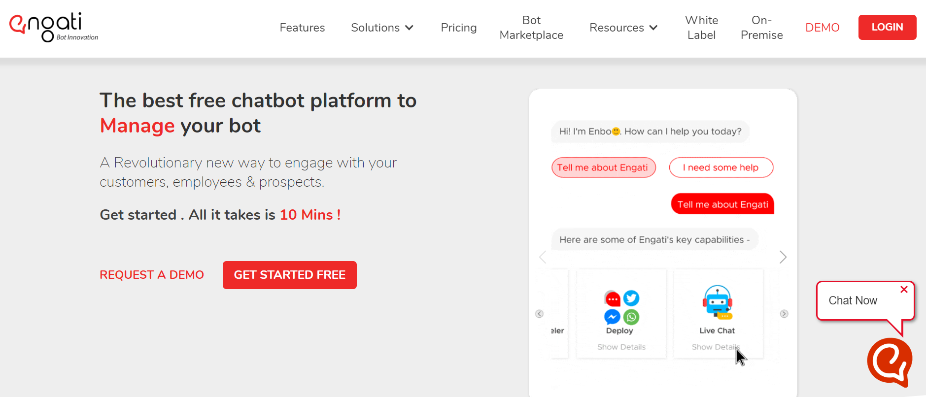 best chatbots for marketing - Engati