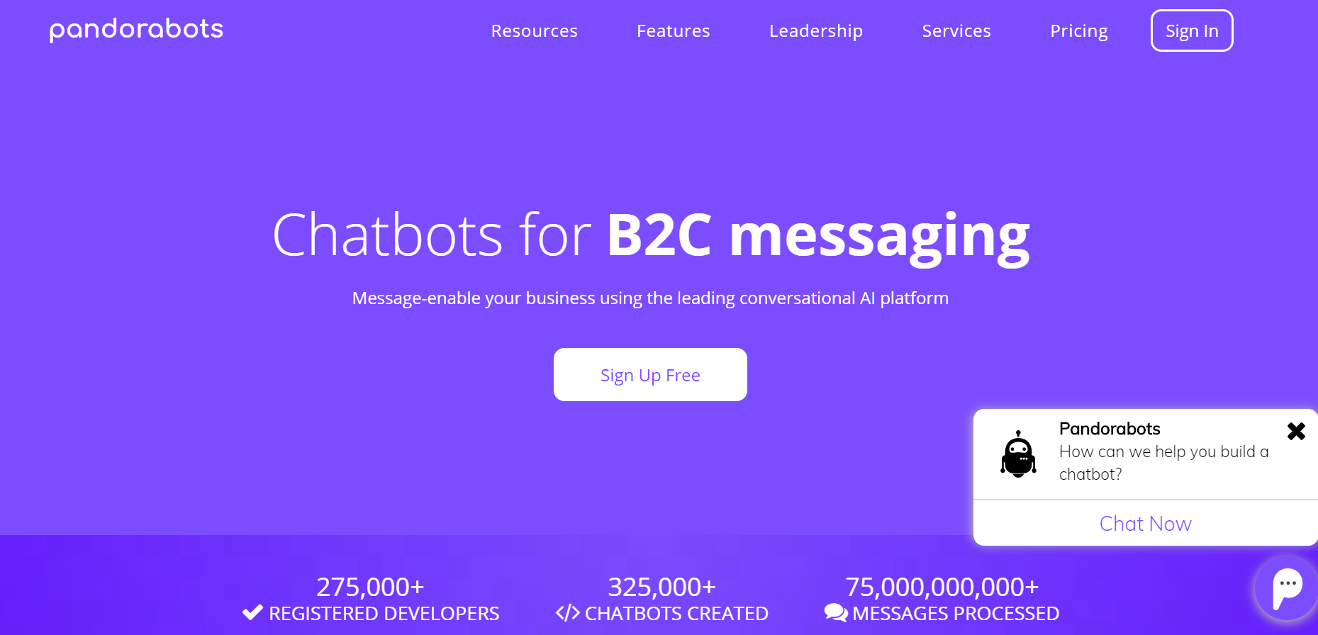 best chatbots for marketing - Pandorabots