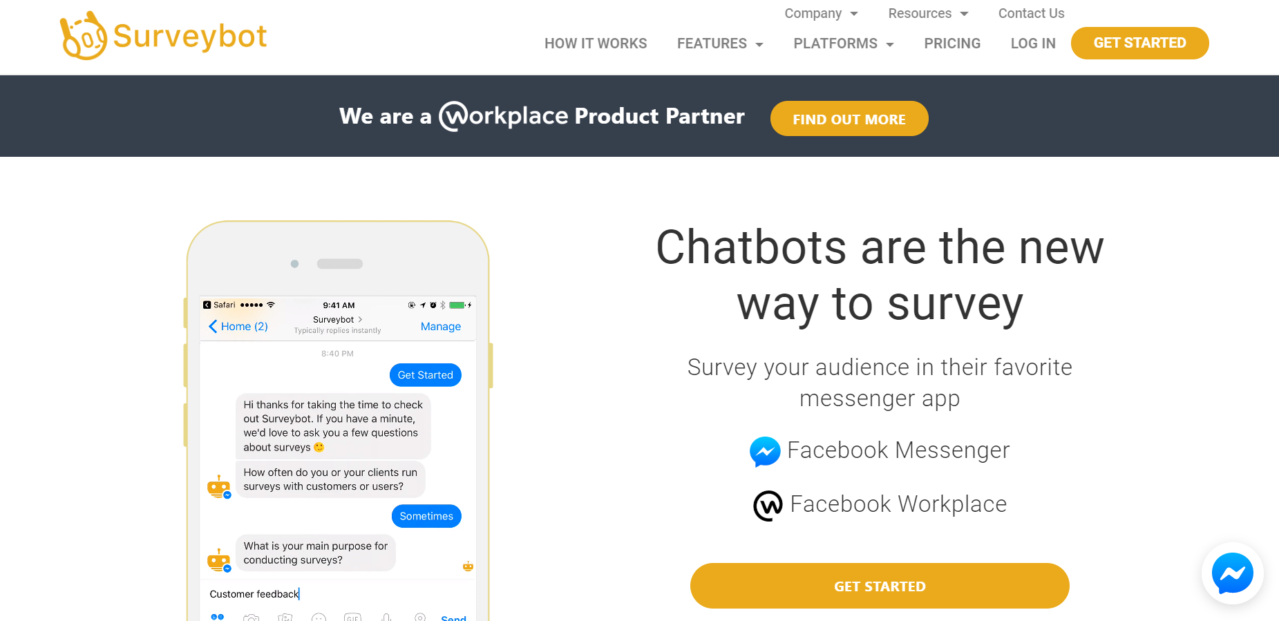 best chatbots for marketing - Surveybot