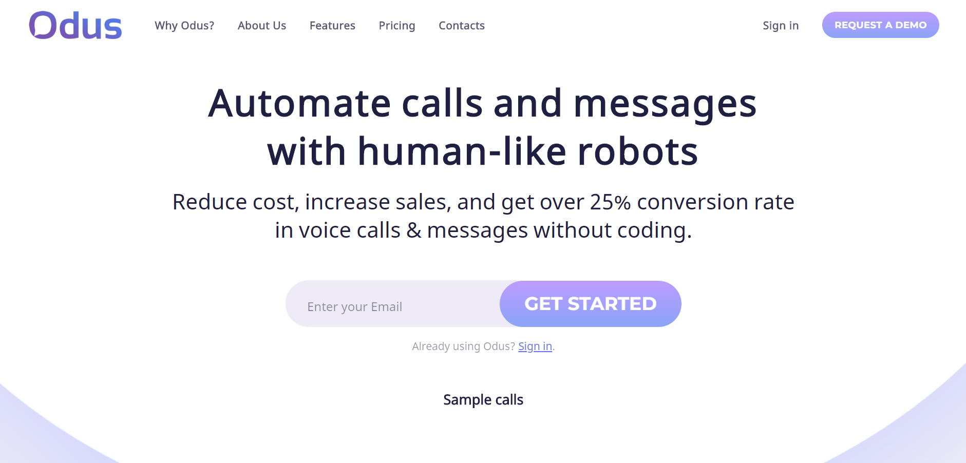 best customer service chatbot - Odus.ai