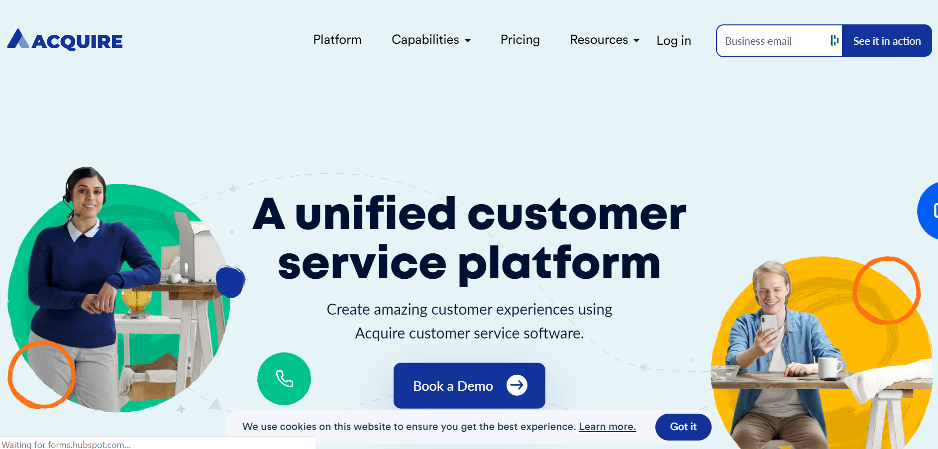 best customer service chatbot - Acquire