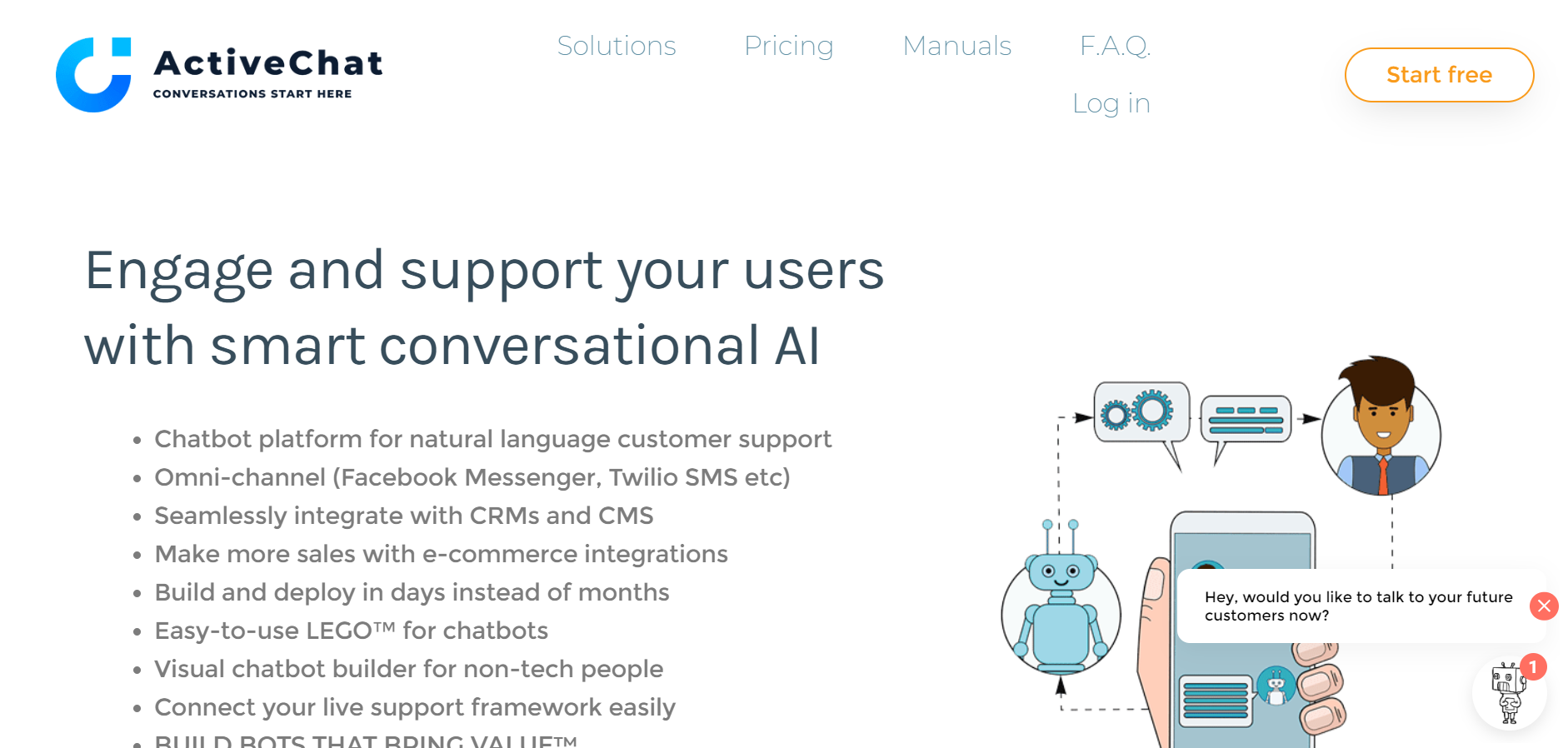best ecommerce chatbot tools - ActiveChat