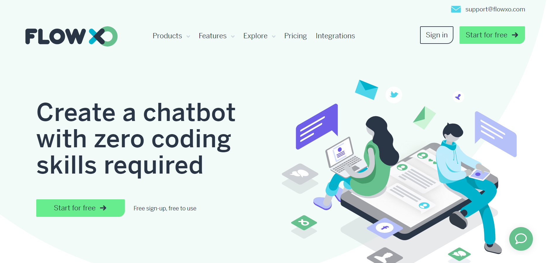 best ecommerce chatbot tools - Flow XO
