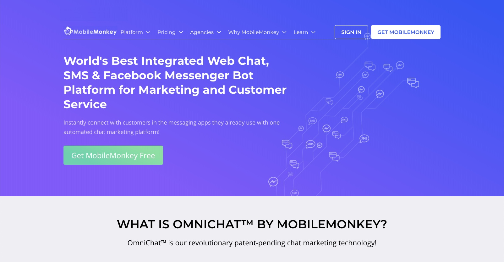 best enterprise chat software - MobileMonkey