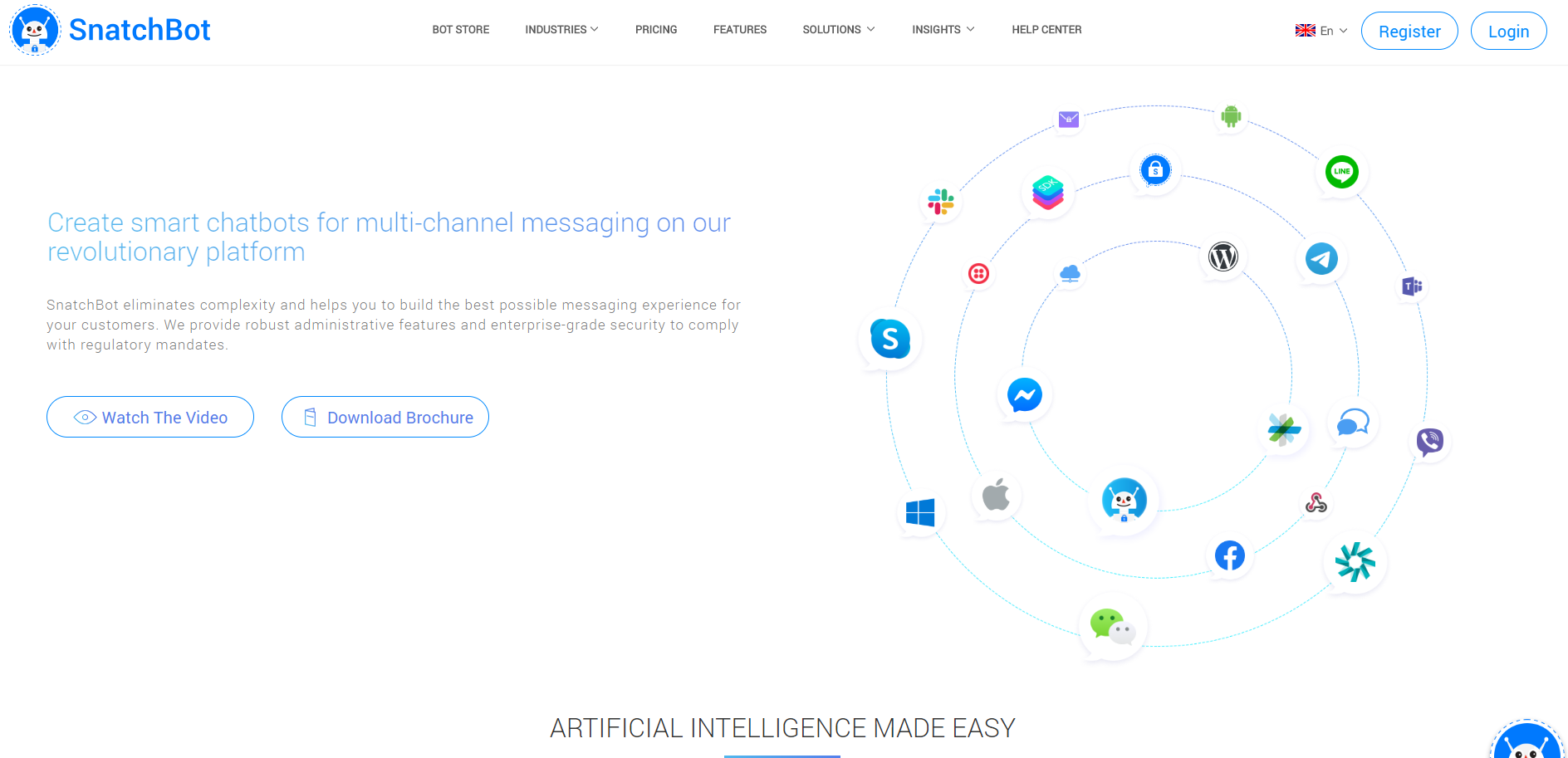 best enterprise chat software - Snatchbot
