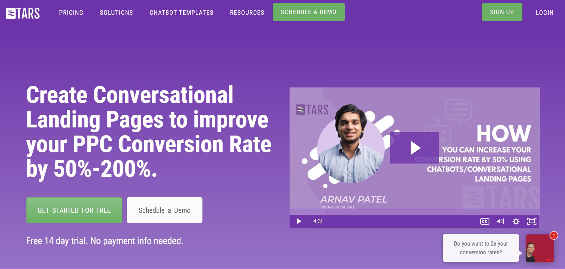 best enterprise chat software - TARS
