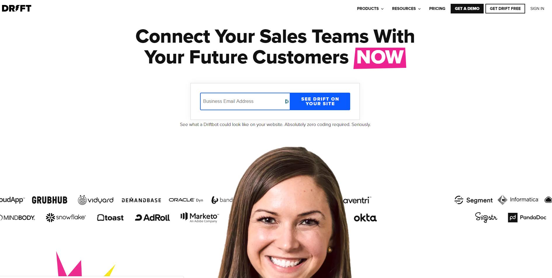 best enterprise chat software - Drift