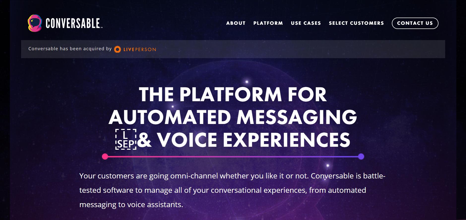 best enterprise chat software - Conversable