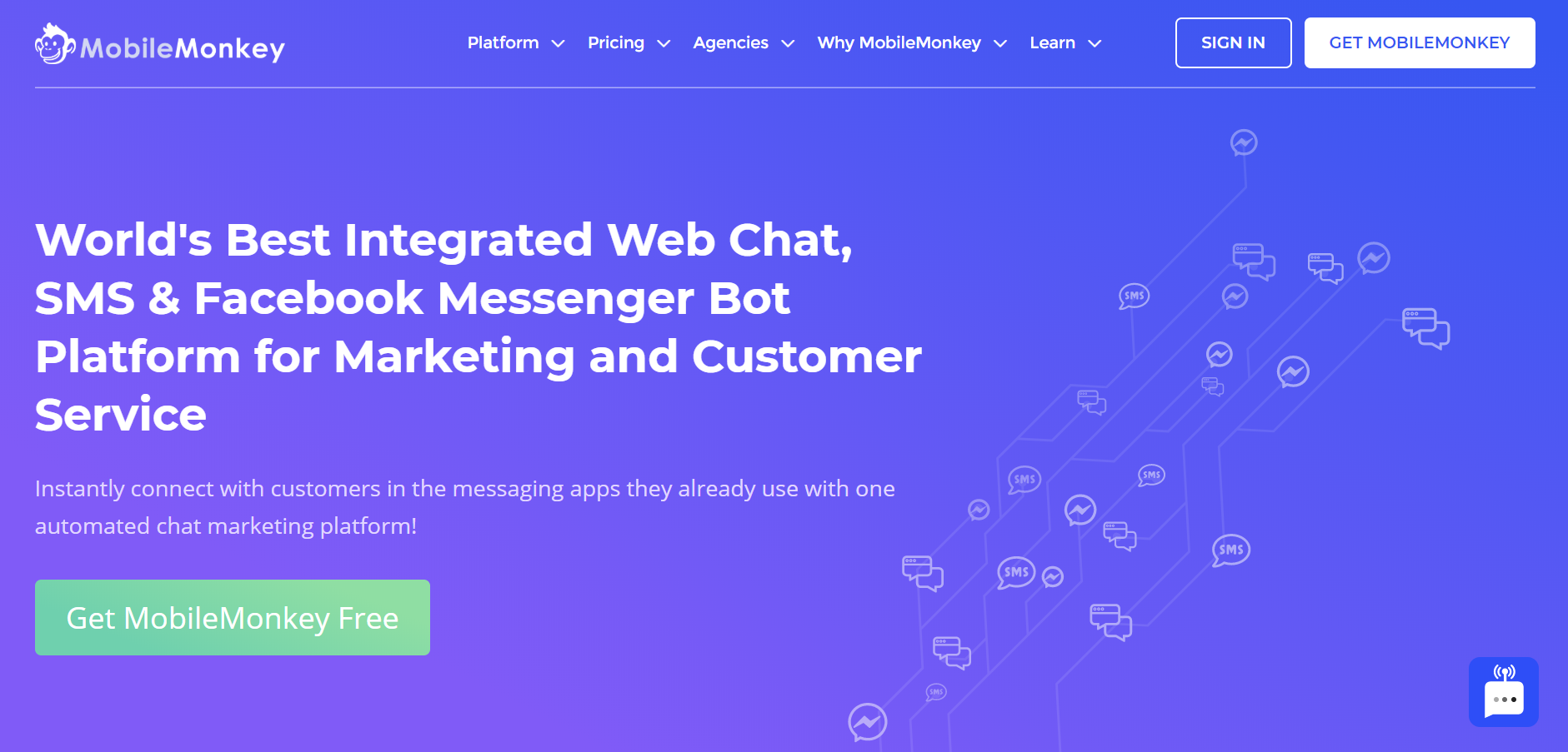 best live chat software - MobileMonkey