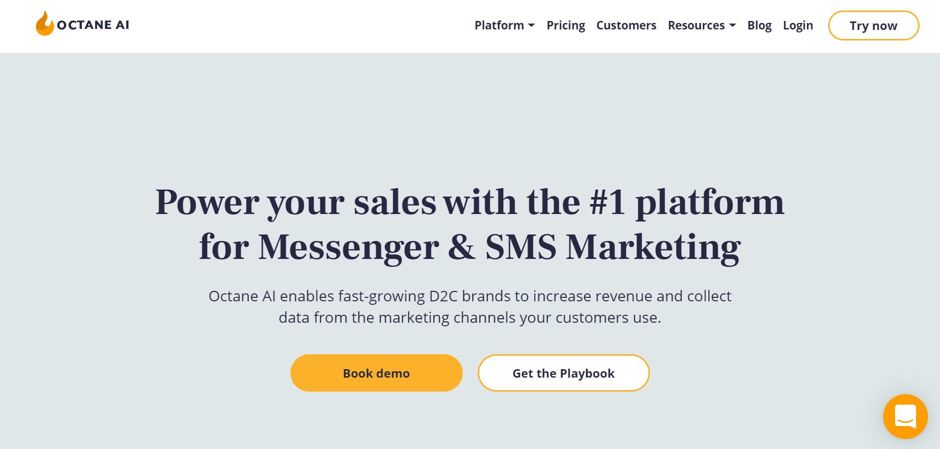 sales chatbot - Octane AI