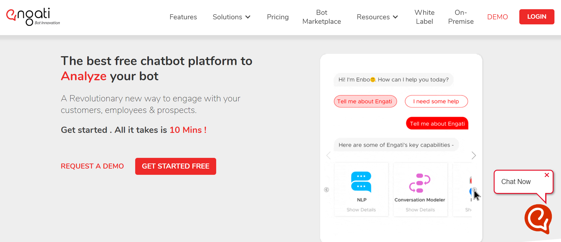sales chatbot - Engati