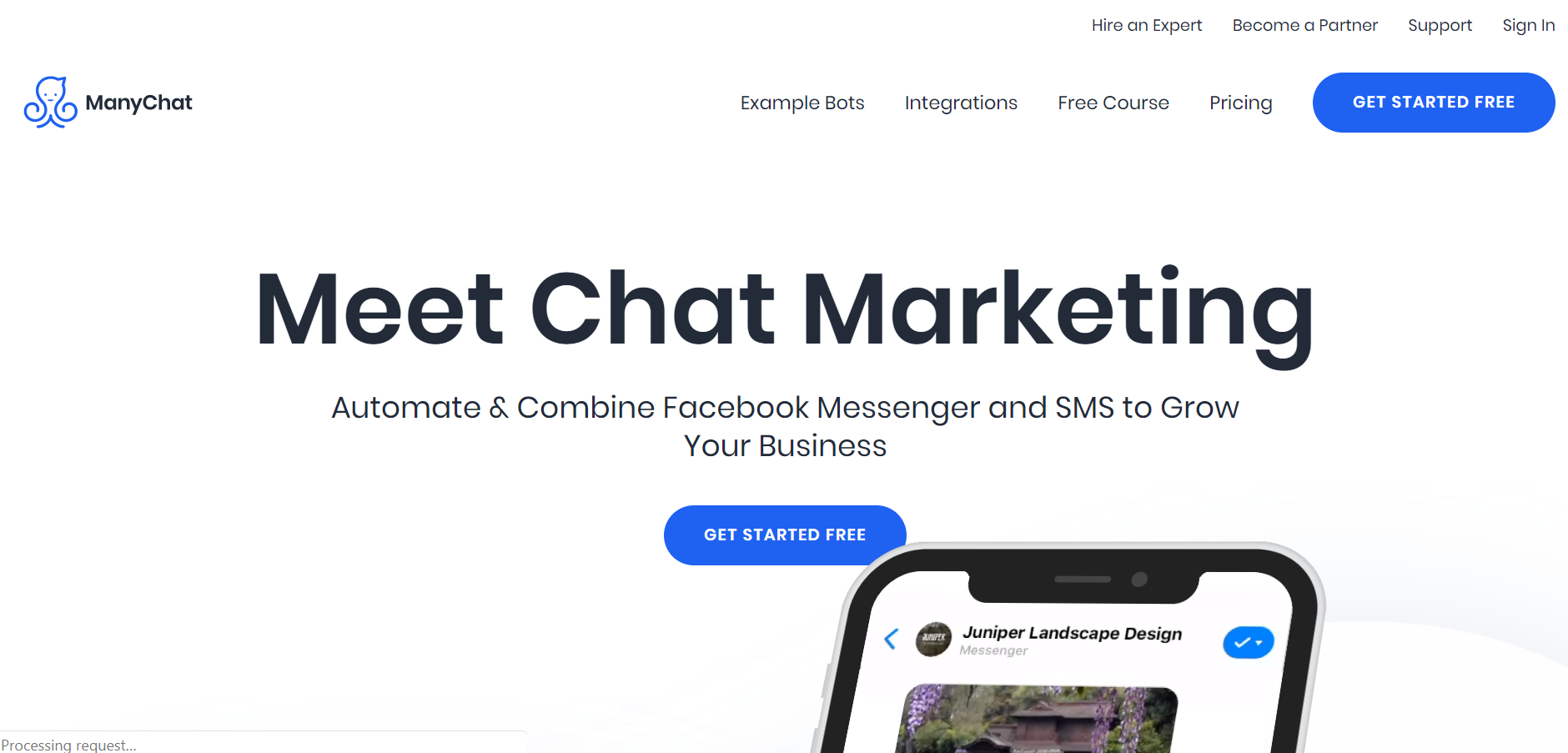 sales chatbot - ManyChat