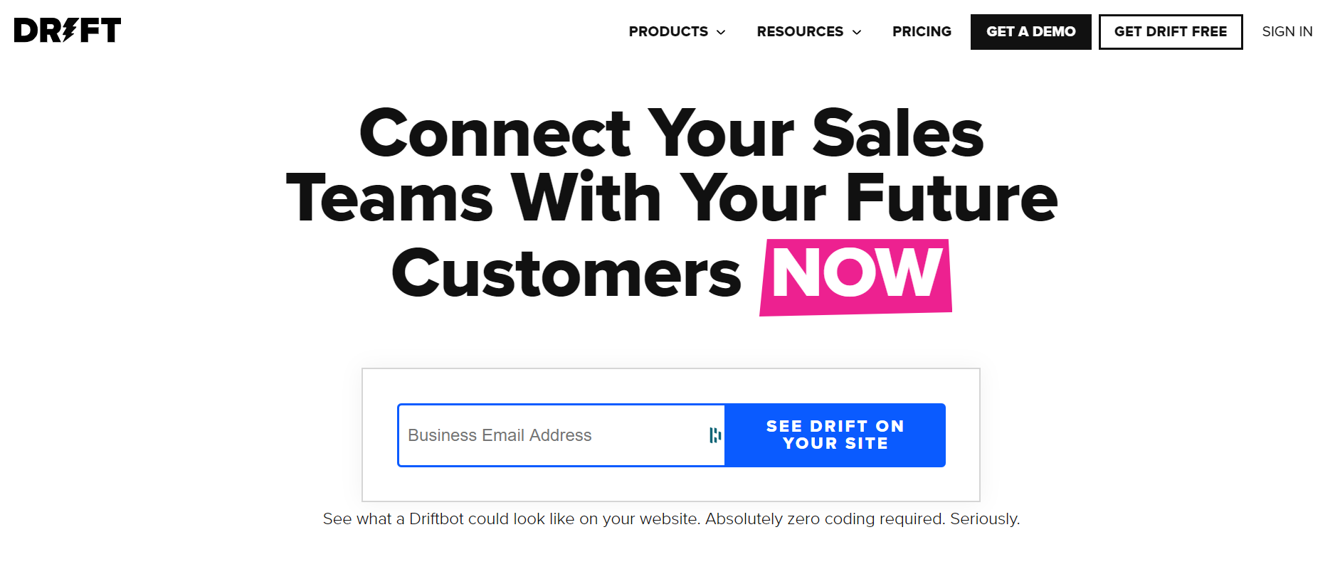 sales chatbot - Drift