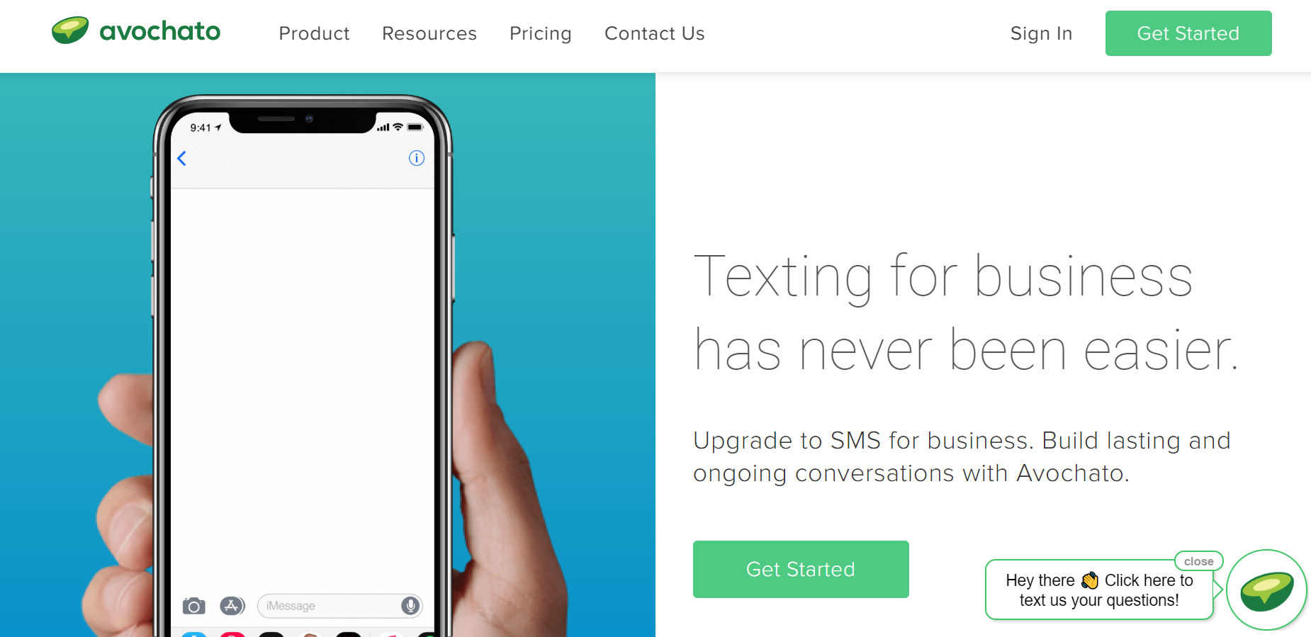 best SMS marketing services - Avochato