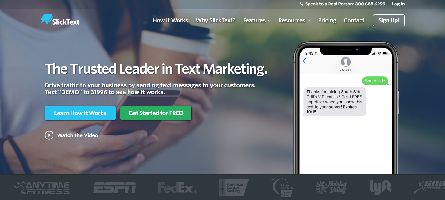 best SMS marketing services - SlickText