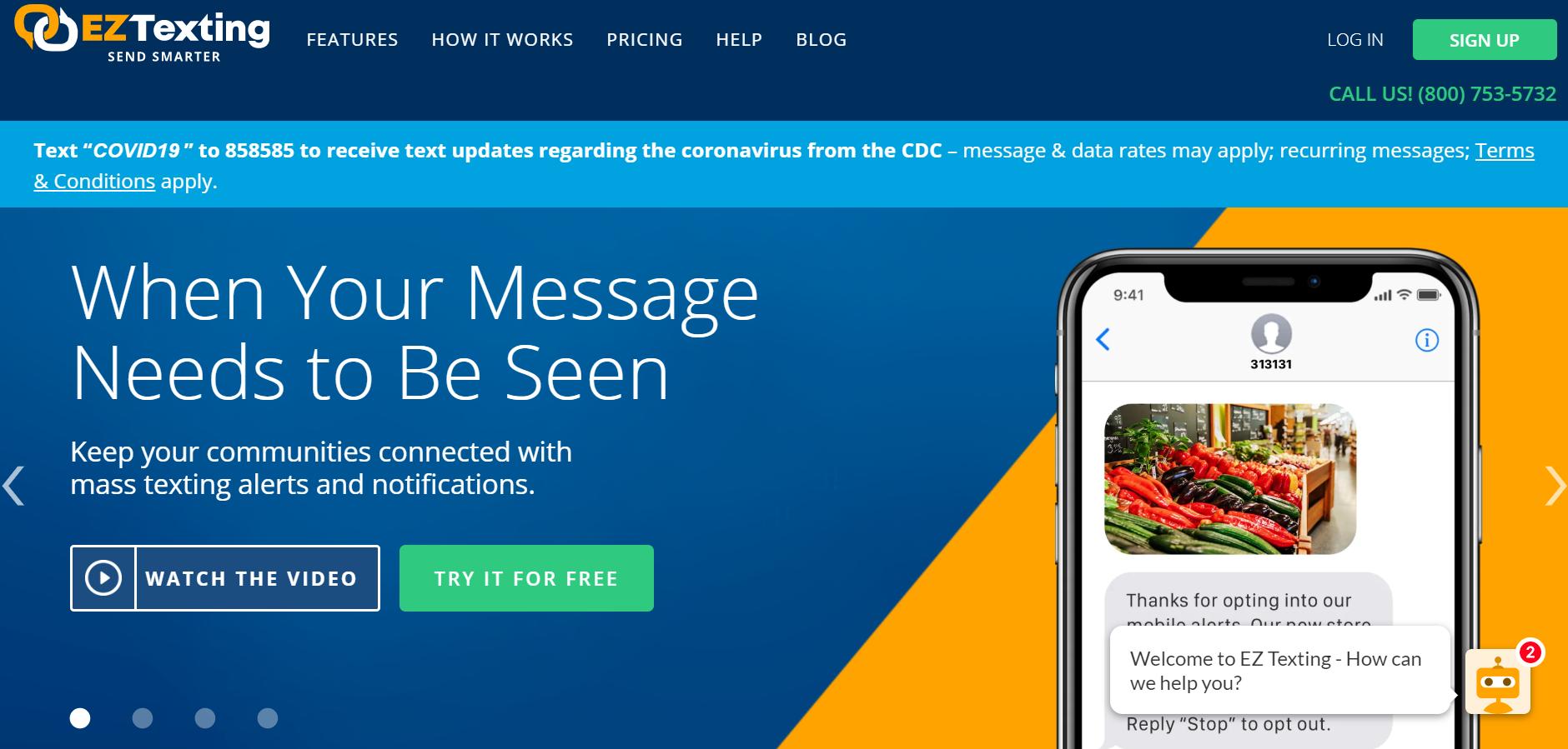best SMS marketing services - EZ Texting