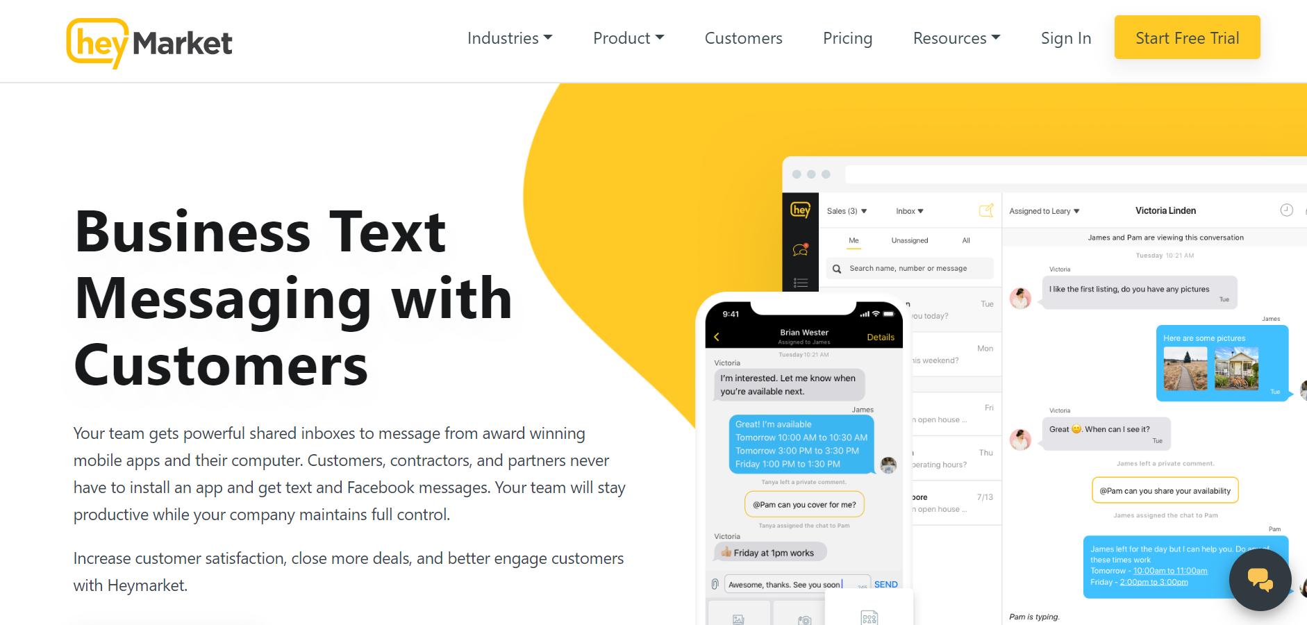 best SMS marketing services - Heymarket