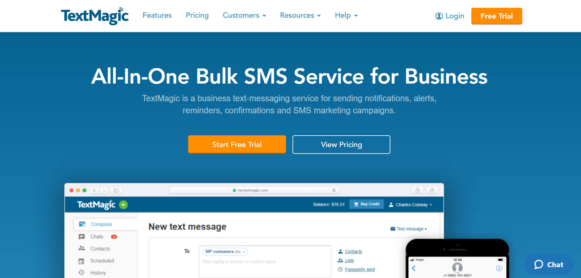 best SMS marketing services - TextMagic
