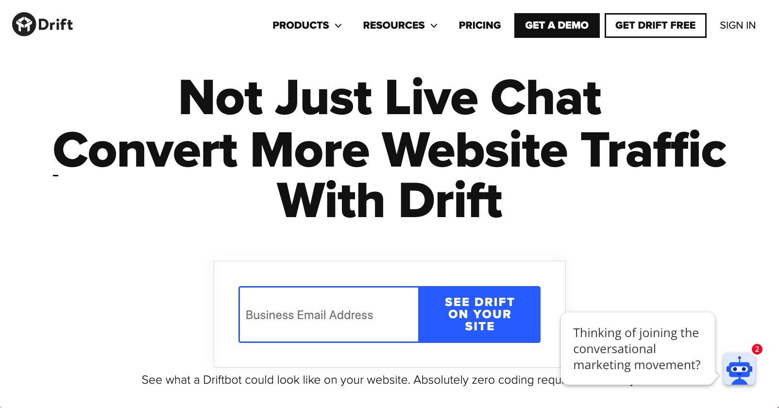 Drift - Best Web Chat Apps
