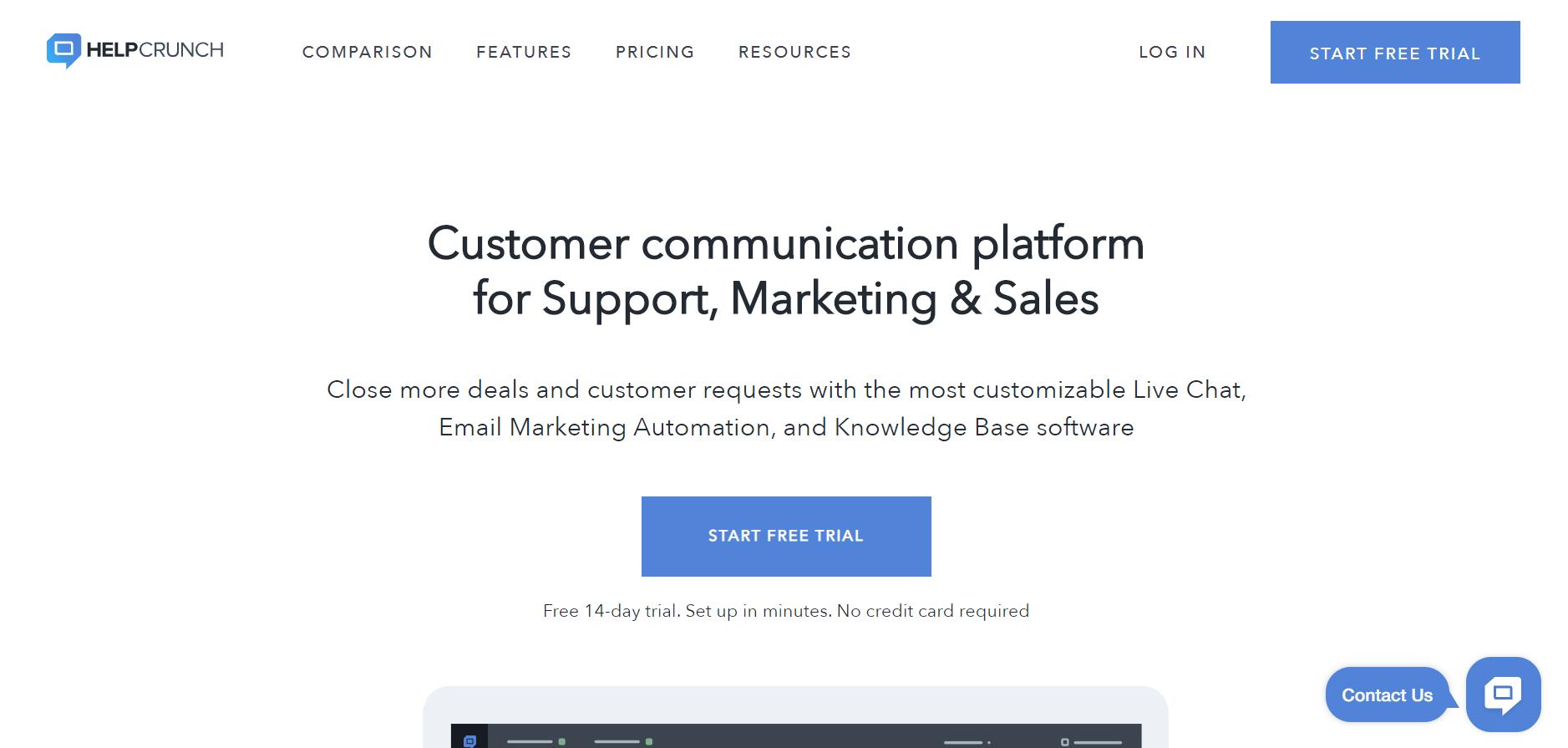 Helpcrunch - Best Web Chat Apps