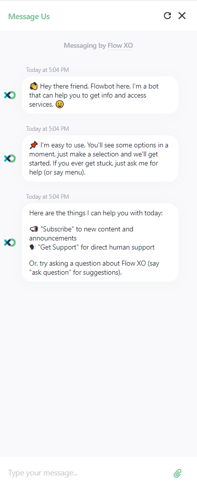 Flow XO review - Flow XO chat widget