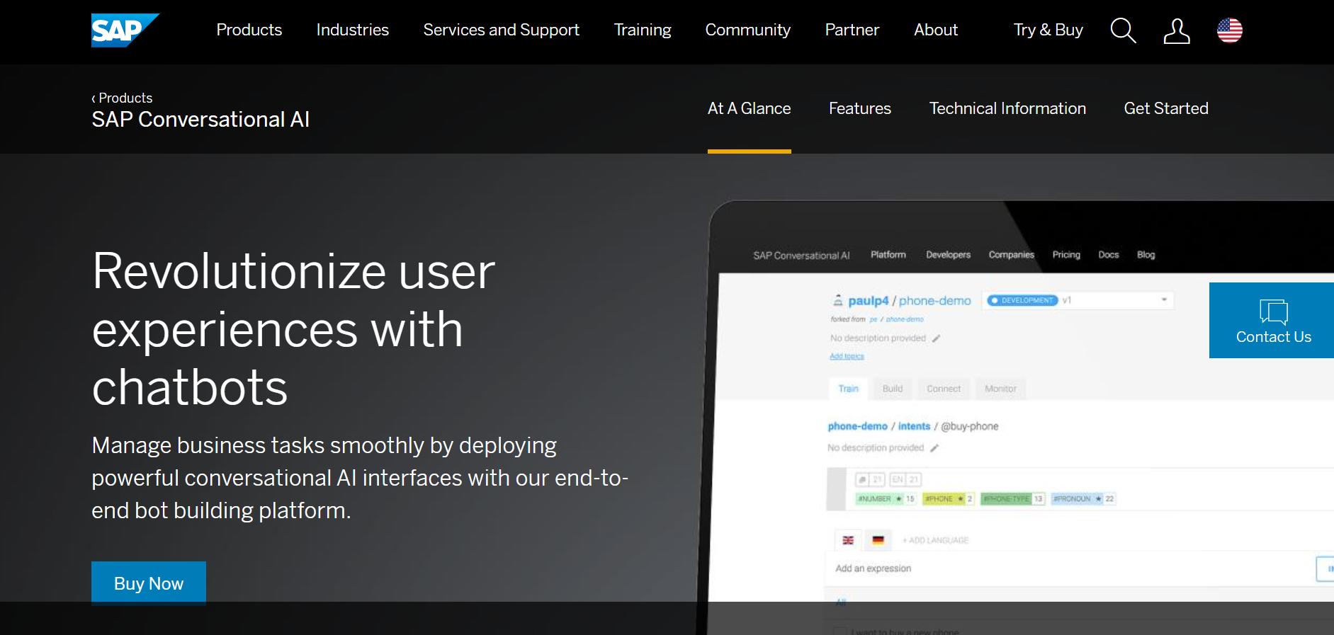 best ai chatbot tools - SAP Conversational AI