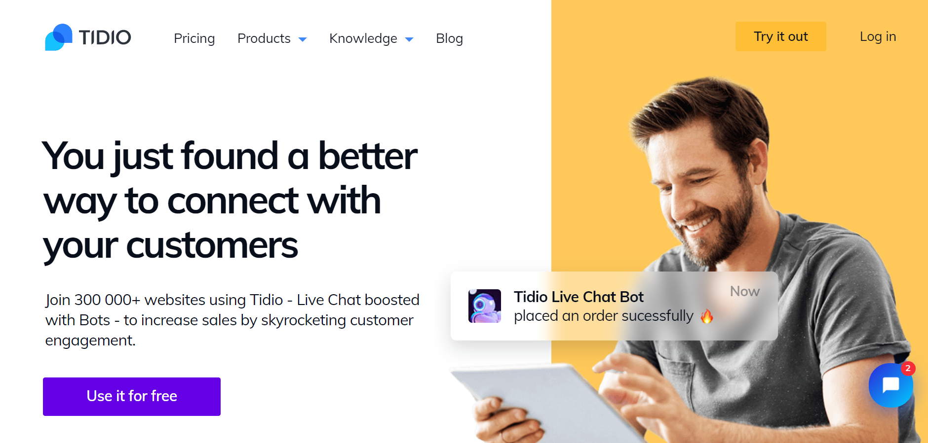best live chat software - Tidio