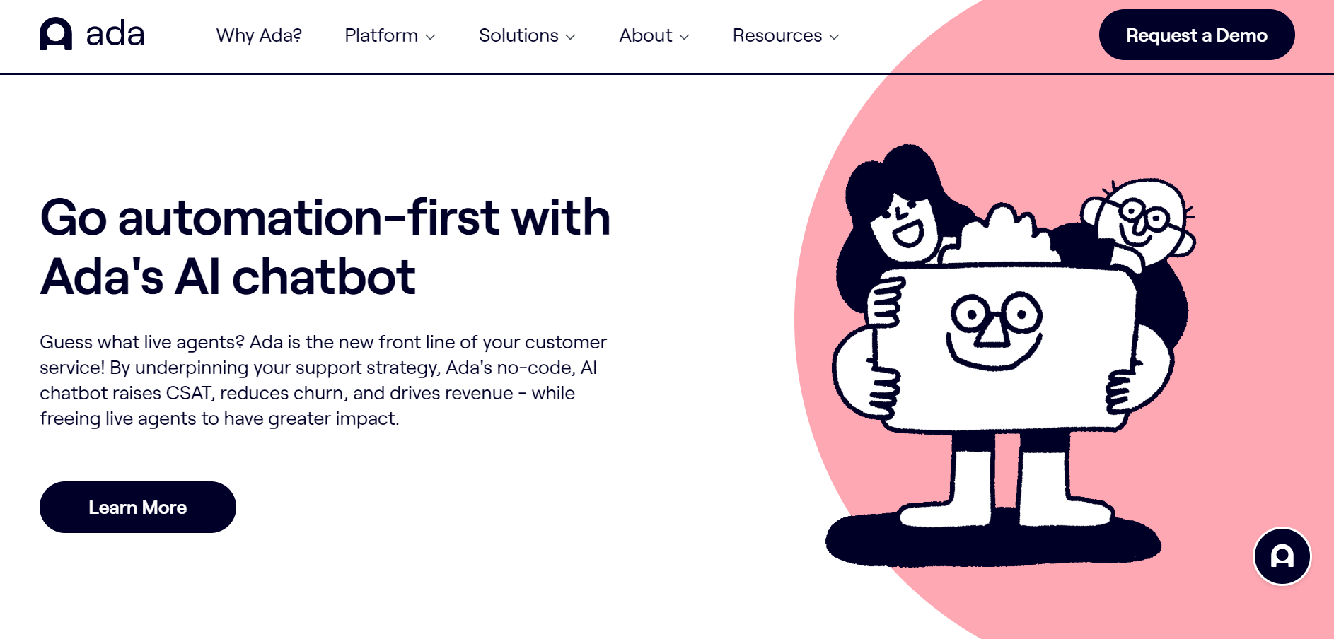 best ecommerce chatbot tools - Ada