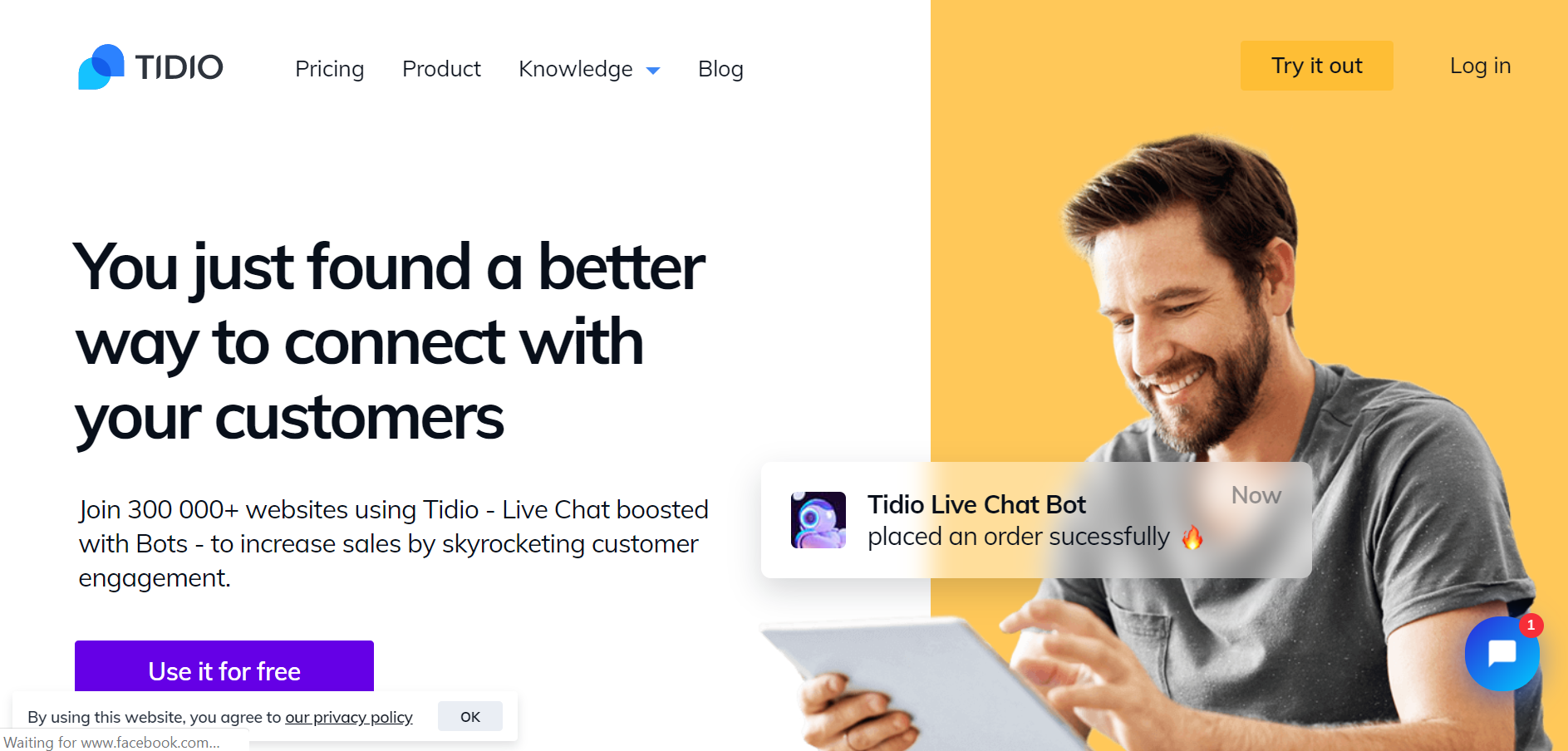 best ecommerce chatbot tools - Tidio