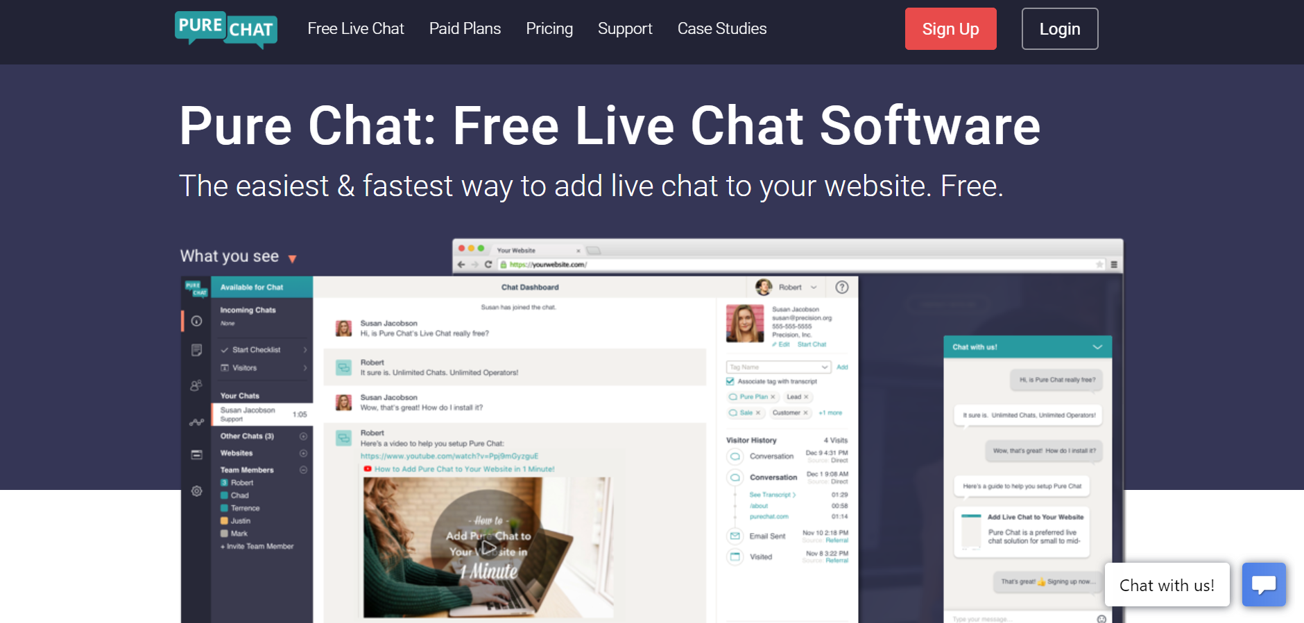 best live chat software - PureChat