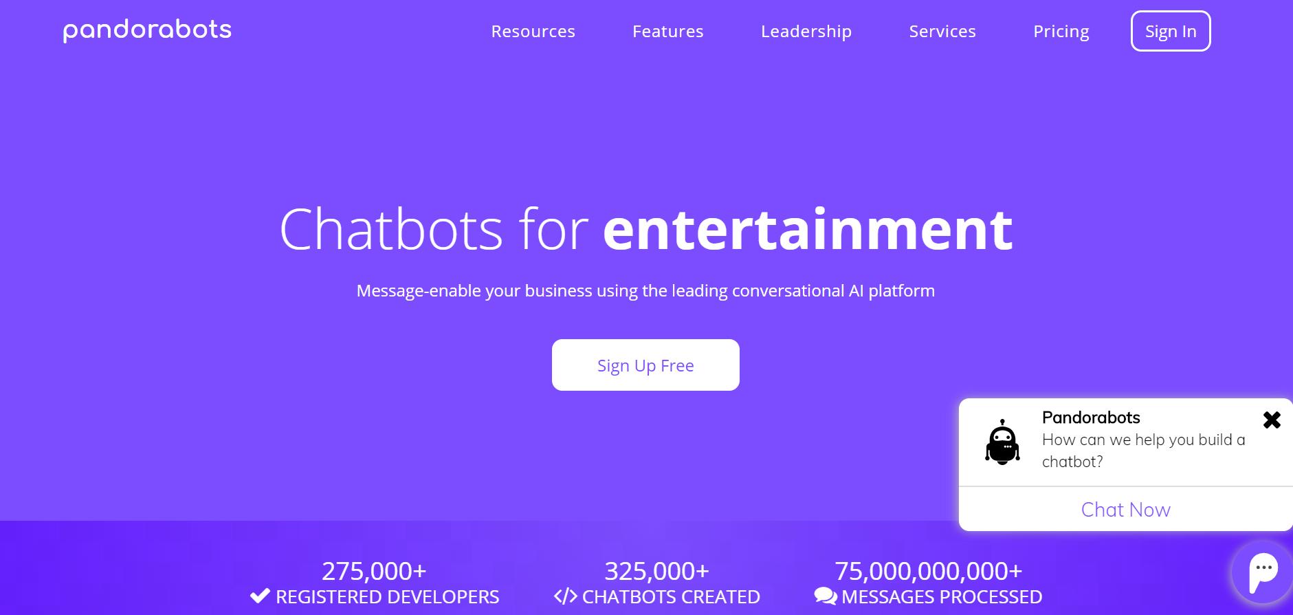 sales chatbot - Pandorabots