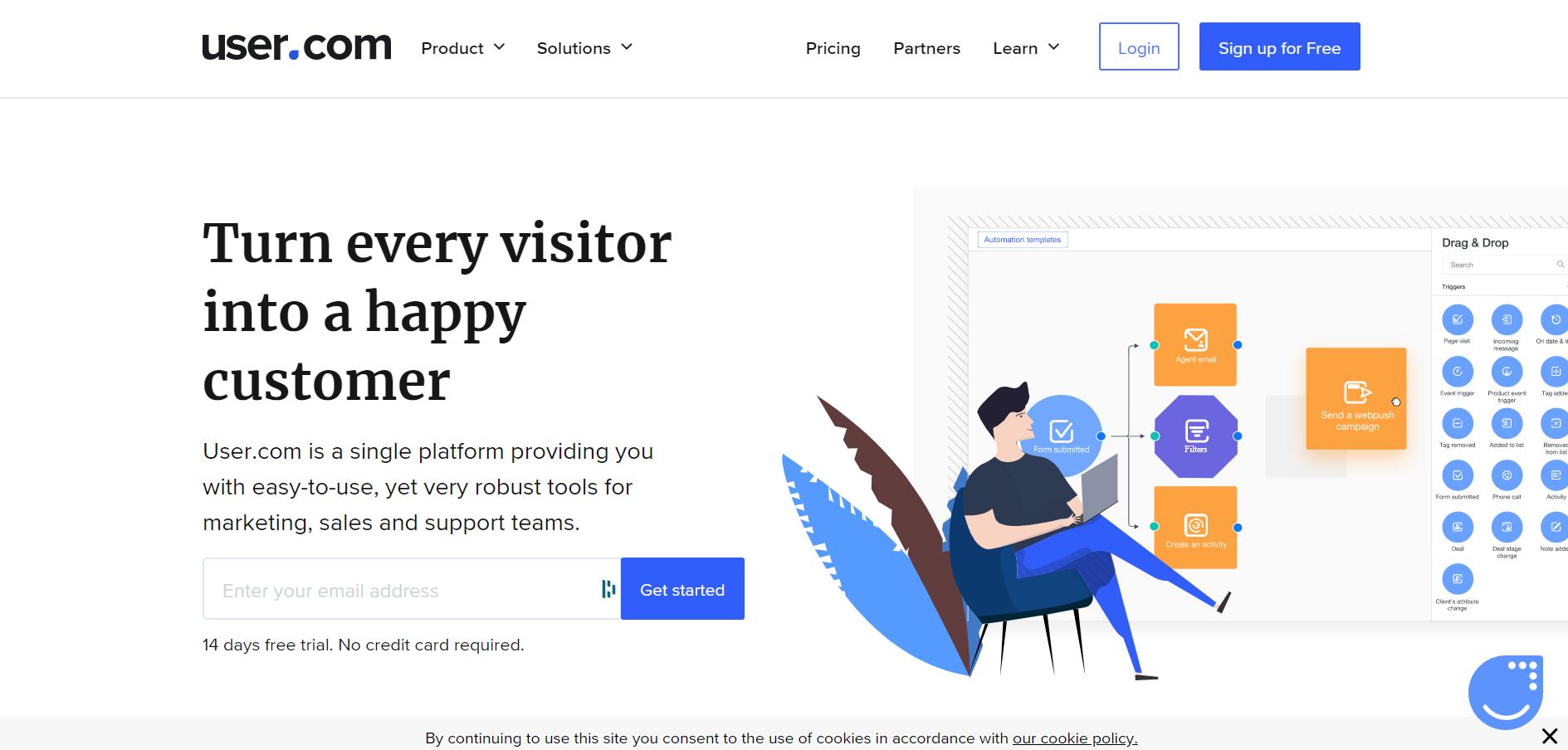 sales chatbot - User.com