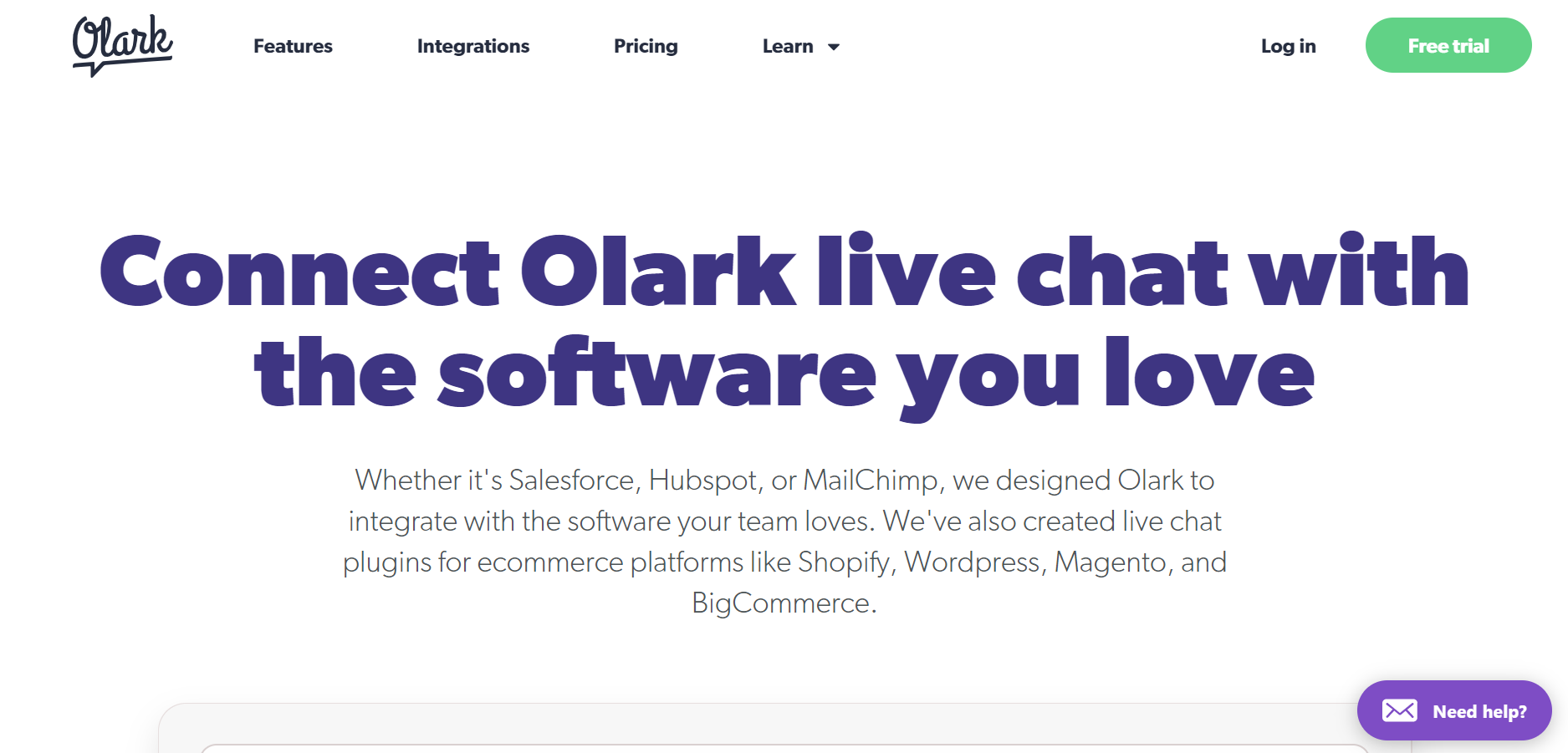 best live chat software - Olark