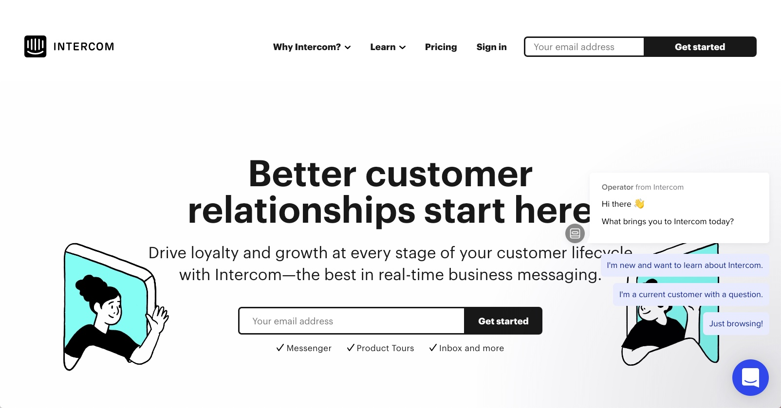 best enterprise chat software - Intercom