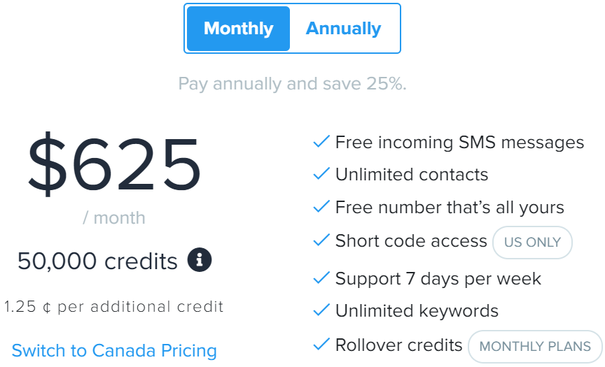SimpleTexting review - SimpleTexting pricing